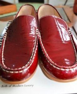 Coach Sera Burgandy Patent Leather Loafers